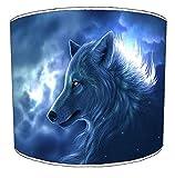 Pantalla para lámpara de techo diseño de lobo aullando a Premier de arroz 19