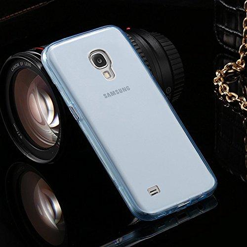 Galaxy S4 Coque,Samsung Galaxy S4 Etui,Vandot Samsung Galaxy S4 I9500 Etui Protection Dorsale Étui Slim Invisible Housse Cover Case en TPU Gel Silicone Coque de Protection Etui Transparent Antidérapan Transparent-Blue