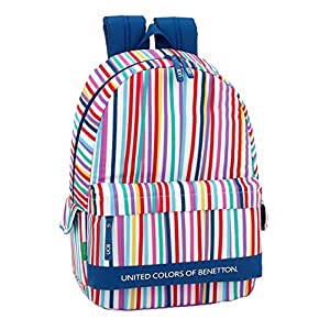 51RAy66tOLL. SS300  - Ucb benetton Mochila Grande Adaptable a Carro, niña.
