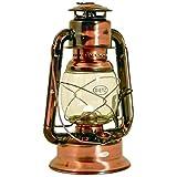 Dietz Original Sturmlaternen-SET große WIZARD Petroleumlampe, altdeutsche Kupferlackierung, Höhe 29,2 cm, mit 1 Liter Petroleum und Docht