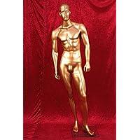 HeuSa Tech Window mannequin Male Shining Gold