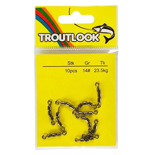 TroutlookTremarella Forellen Dreifachwirbel, Gr. 14, 23,5Kg, 10 Stück