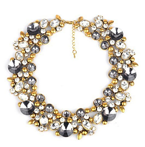 Kette Damen Party Outfit Choker Halskette Partykette (gold6)