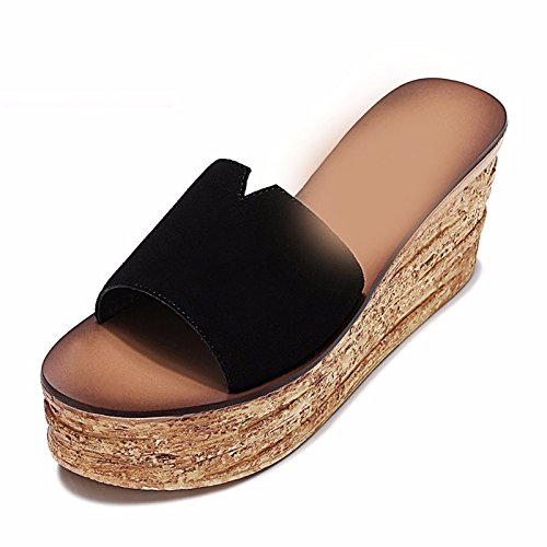 ZYUSHIZ Sandales Pantoufles Mme le style minimaliste de l'été de l'Ouest 38EU