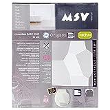 MSV Design WC Sitz, Absenkautomatik, Fast Fix/Schnellbefestigung, Befestigung mit Knopfdruck, Toilettensitz WC Deckel Klobrille Origami weiß