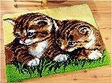 4 Modell Katze Knüpfteppich für Kinder und Erwachsene zum Selber