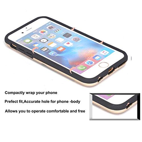 Phone Case & Hülle Für iPhone 6 Plus und 6s Plus Dream Network Fallschutz-Schutzhülle mit Kartensteckplätzen ( Color : Green ) Gold