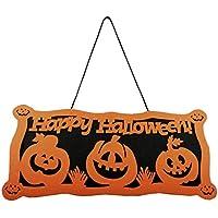48 x 22 Centimetri Felice Halloween Pumpkin Door Hanging Decoration Gancio