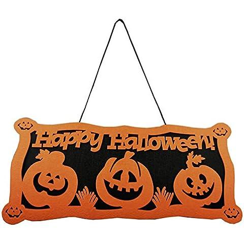 Gosear Decoración de Halloween Calabaza Puerta Colgante