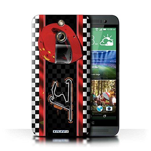 Kobalt® Imprimé Etui / Coque pour HTC One/1 E8 / Italie/Monza conception / Série F1 Piste Drapeau Chine/Shanghai