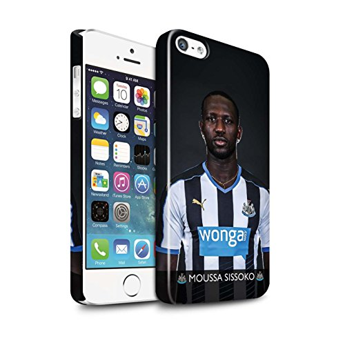 Offiziell Newcastle United FC Hülle / Glanz Snap-On Case für Apple iPhone SE / Lascelles Muster / NUFC Fussballspieler 15/16 Kollektion Sissoko
