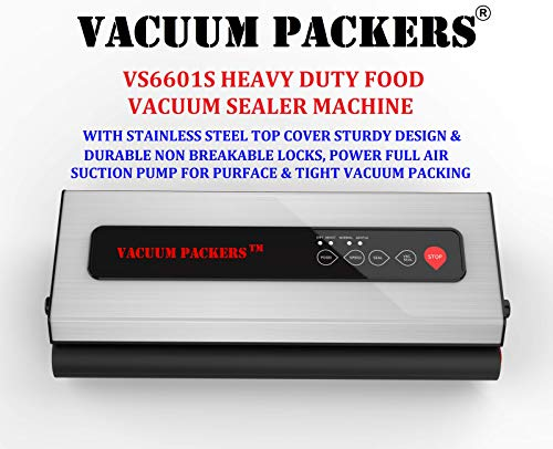 Vacuum Packers VS6601S Food Vacuum Sealer Machine with Powerful 75kpa Pump & Stainless Steel Body for Heavy Duty