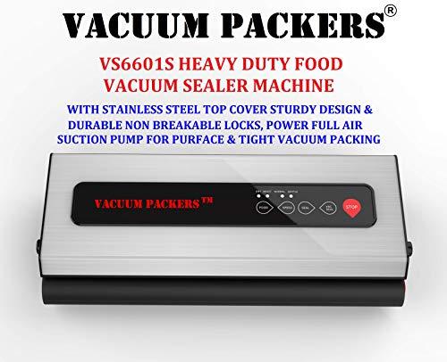 Vacuum Packers VS6601S Food Vacuum Sealer Machine with Powerful 75kpa Pump & Stainless Steel Body for Heavy Duty