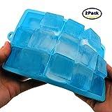 2er Pack Eiswürfelform von Yikeou | Silikon-Eiswürfelform mit 30 Würfel in Hellblau