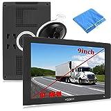 Xgody SAT NAV para la navegación GPS en camiones para navegación GPS de 9 pulgadas y 8 GB con camiones Bluetooth para buscar el código de velocidad para las alarmas de cámara de PDI de camiones