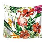 Flamingo Green leaves stampa Wall Art arazzo da - Best Reviews Guide