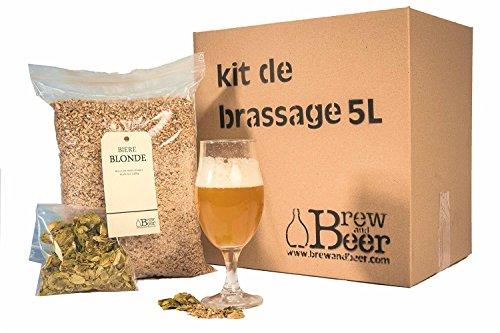 Kit de Brassage Bière Blonde 5 litres Tout Grain...