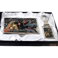 Nacre Design Tigre, Dragon Ball Porte-clé-Porte-nom-Porte-carte de visite fin d'Argent Coffret