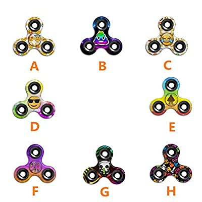 Emoji Fidget Spinner,Omiky® Camouflage Graffiti Tri Hand Spinner Finger Groy Toy for SBDX ADD ADHD Anxiety Autism Suffers