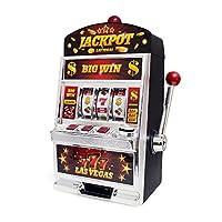 Balvi Gioco Las Vegas Slot Machine Doppia funzione: gioco d'azzardo e salvadanaio Batterie: 2xAA non incluse Plastica 37cmDIVERTIMENTO. Ruotare la maniglia e tentare la fortuna. Si può tentare la fortuna a giocare da solo o con la famiglia.CO...