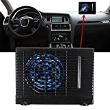 Jiaju Universal Car air Conditioner, Home Car Cooling Fan, Universal DC12V Ice Evaporative Air Conditioner, Cooler Water Evaporative air Fan ,35W Black Portable Mini Cooling Conditioner