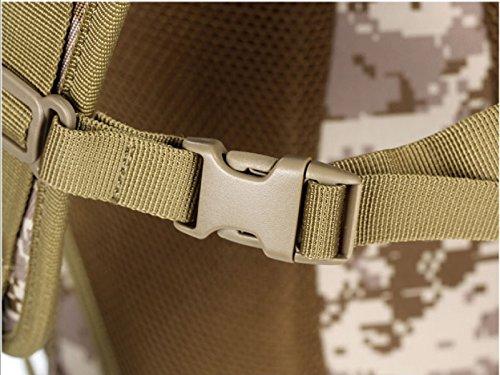 Tasca Tattica Dello Zaino Dello Zaino Militare Impermeabile Camuffamento Outdoor Camping Escursionismo Zaino,CPCamouflage Black