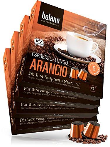 100 Nespresso kompatible Kapsel Capsule Arancio Stärke 5 Espresso Caffe Crema 100% Arabica Kaffee Kapseln Kaffeekapseln kompatibel mit Nespresso-Maschinen* -