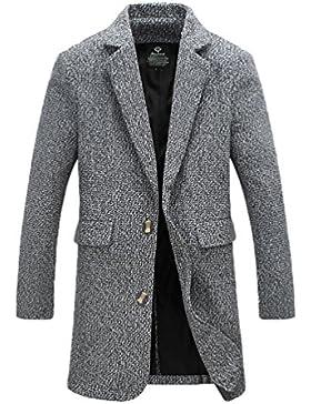 YiJee Abrigo Moda Abrigo de Invierno Classic Soltero de Pecho Hombres Gran Tamaño