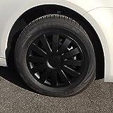 (Größe & Design wählbar) 16 Zoll Radkappen Agat Schwarz Matt passend für fast alle Fahrzeugtypen (universal)