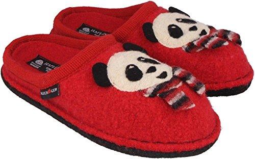 Pantofole Lana 31306111 Haflinger Flai Rosso Panda Di Rosso Feltro qw14vqBxr