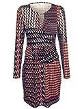 Alba Moda Damen Jerseykleid in farblich harmonischem Grafikprint Fließend 38 by