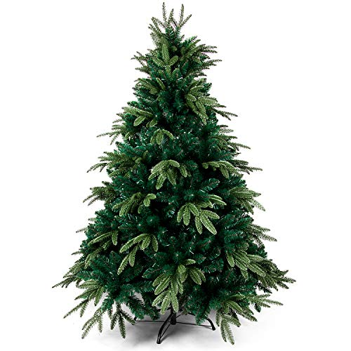 OZAVO Árbol de Navidad Verde Artificial de Pino(Verde,210cm 1880 Ramas),Decoración Navideña,Maxi-Relleno PVC Abeto,Soporte Metálico