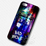 Doctor Who Bad Wolf tardis colorful galaxy door for Funda iphone 7 Case D5K3LF