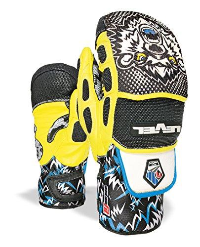 Level Erwachsene Handschuhe Worldcup CF Mitt Black-Yellow, 10 - Level-herren Race-handschuh