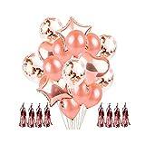 Artlalic Rose Or Coeur Ballon Foil Champagne Star Ballons De Noce Décor Latex Ballon...