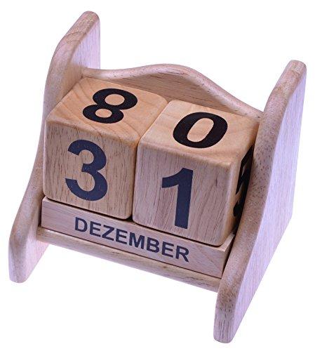 Ewiger Kalender Gr. L - Dauerkalender - aus edlem Hevea Holz