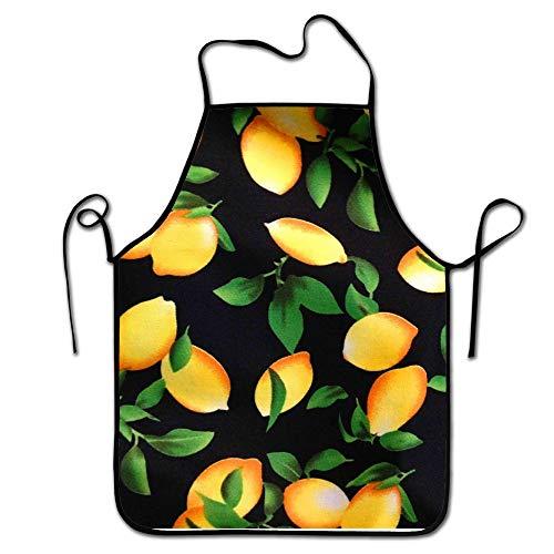 Jhonangel Latzschürze Erwachsene Frauen Unisex, langlebig, komfortabel, waschbar zum Kochen, Backen, Küche, Restaurant, Basteln, Zitronenbaum