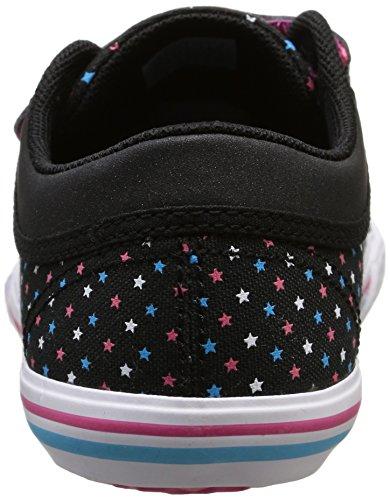 Le Coq Sportif Mädchen Saint Gaetan Ps Stars Sneaker Schwarz - Noir (Black/Multicolore)