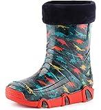 Ladeheid Botas de Agua Zapatos de Seguridad Calzado Unisex Niños Swk 205 (Turquesa...