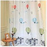 cystyle Neue 1er mongolfiera sciarpa filato tenda dekosachl trasparente Tende cameretta bambini ragazza ragazzo, bianco, 150 x 220 cm