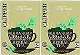 (2 Pack) - Clipper - Organic Peppermint | 20 Bag | 2 PACK BUNDLE