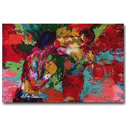 ERQINGYH Malerei Und Kalligraphie Boxer Rocky Art Silk Poster Handgemaltes Ölgemälde Auf Leinwand Movie Pictures Wohnzimmer Dekor - Pop-kunst-boxer