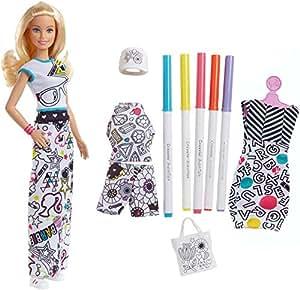Barbie Crayola Colora la Moda, con Pennarelli e Abiti da Colorare, FPH90