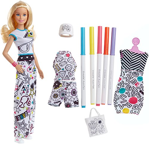 Barbie FPH90 Loves Crayola Farbspaß-Moden Puppe (Blond)