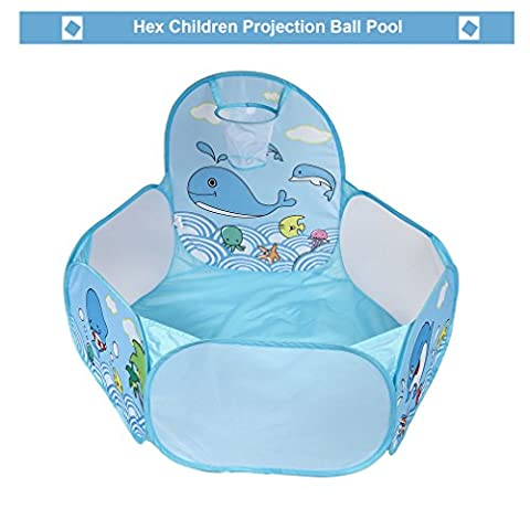 Kinder Baby Bällebad, YKS Beweglicher Hexagon Ballpool Pool Bällepool Drinnen und draußen , Kinder Spielzeug Spiel (Smoby Kletterturm)