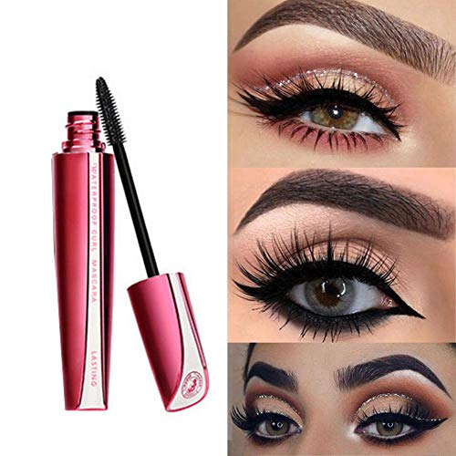 Cooljun 4D Mascara Noir-Extension Mascara Waterproof-Maquillage Cils Curling-Longue Mascara Volume-Noir