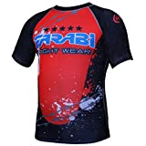 MMA rash guard compression top gym training body armour BJJ base layer by farabi (XL)
