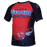 MMA rash guard compression top gym training body armour BJJ base layer by farabi (XL)