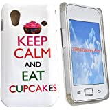 Accessory Master - Coque hybrid pour Samsung galaxy ace S5830 Keep calm and eat cup cakes - Blanc