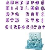 Molde para tartas, diseño de letras y números, ...